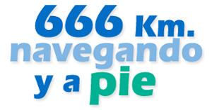 666 km navegando y a pie